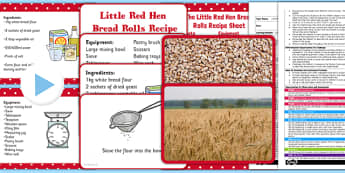 Little Red Hen Bread Rolls EYFS Adult Input Plan and Resource Pack - EYFS planning, Early years activities, traditional tales, baking, food