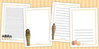 Egyptian Mumification Page Borders - ancient egypt, history