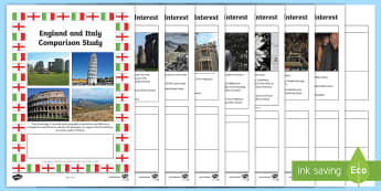 England and Italy Comparison Study  Research  Booklet - Scotland and Italy Comparison Study Research Booklet - CfE, Comparison Study, research, people and p