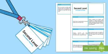 CfE Second Level Information Handling Lanyard-Sized Benchmarks - numeracy second level assessment,Scottish