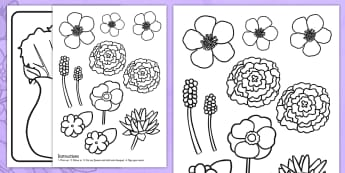 Mothers Day Flower Bouquet Colouring Activity - mothers day