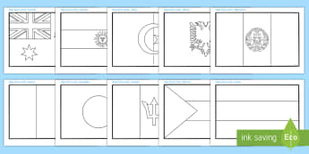 Flags of the World Colouring Sheets - flag, country, countries, world, Olympics, Olympic Games, sports, Olympic, London, 2012,  colour, colouring, sheets, fine motor skills, vines, worksheet, activity, Olympic torch, medal, Olympic Rings, mascots, fl