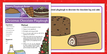 Christmas Chocolate Sensory Playdough Recipe - christmas, chocolate, sensory, playdough