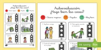 Ficha: Auto evaluación - emociones, educación emocional, inteligencia emocional, problemas de comportamiento, autoestima, au