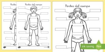 Etiquetar el cuerpo - cuepo, salud, proyecto, partes, nombre, área temática,,Spanish - cuepo, salud, proyecto, partes, nombre, área temática, Spanish