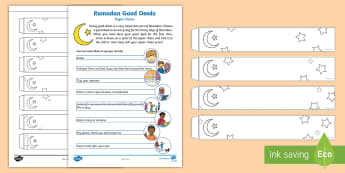 Ramadan Decorations Paper Chain Activity - Ramadan, Eid, Eid-ul-fitr, Eid ul fitr, muslim, islam, qur'an, assembly, ks1, key stage one, key s