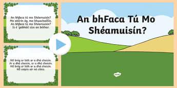 An bhFaca Tú Mo Shéamuisín Song