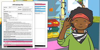 Who Is It? Listening Game EYFS Adult Input Plan - who is it, listening, game, plan