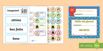 Gioco di Ruolo a Scuola pacco Attivita - gioco, di, ruolo, scuola, scolastico, certificati, voti, commenti, insegnante, registro, libro, ital
