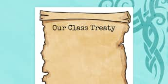 Our Class Treaty Editable Poster - our class, editable, edit, treaty, class, our, editable treaty