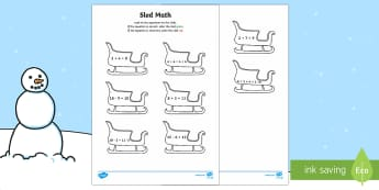 Sled Math Activity