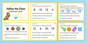 Follow the Clues Challenge Cards