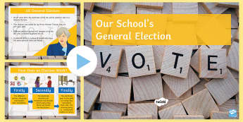 Hold Your Own School General Election PowerPoint - Secondary - Event - General Election 08/06/2017, school election, politics, political party, politic