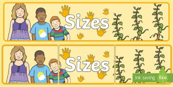 Sizes Display Banner - sizes, display, banner, sign, poster, sizes, height, metres, tall, small, short, different, size