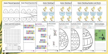 Year 3 Easter Themed Math Resource Pack - Australia Easter Maths, Easter, Australia, mathematics, maths, measurement, number, problem solving,