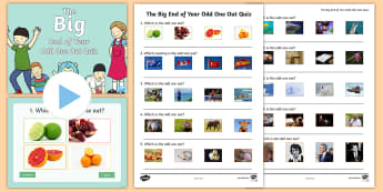UKS2 The Big End of Year Odd One Out Quiz Pack - picture, photo, animals, taxonomy, keys, grouping