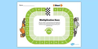 Multiply by 100 Race Activity - multiply by 100, race, activity, multiplication