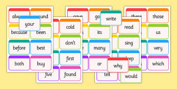 Dolch Word Flashcards Second Grade - usa, america, dolch, word, flashcards, second grade