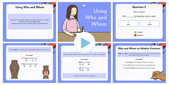 Using 'Who' and 'Whom' PowerPoint - who, whom, powerpoint, using