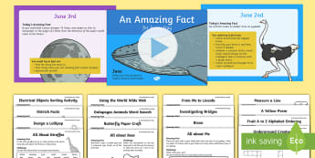 June Amazing Fact a Day Activity Pack - Amazing Fact Of The Day, activity sheets, powerpoint, starter, morning activity, December