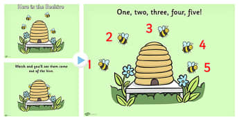 Here is the Beehive Nursery Rhyme PowerPoint - rhymes, songs