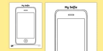 My Selfie Activity Sheet, worksheet