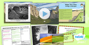 PlanIt - Art UKS2 - North American Art Lesson 2: Make Your Own Landscape Lesson Pack