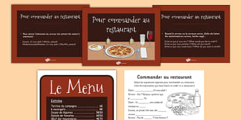 Au restaurant Role Play French - french, au restaurant, restaurant, language, role play