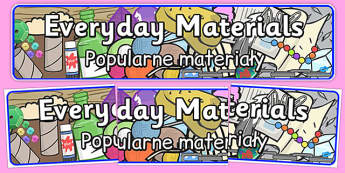 Everyday Materials Display Banner Polish Translation - polish, everyday materials, display banner
