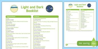 Light and Dark Book List