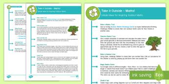 KS1 Take Maths Outside Teaching Ideas - ks1, key stage one, key stage 1, year 1, year one, y1, year 2, year two, y2, outdoor, outdoor classr