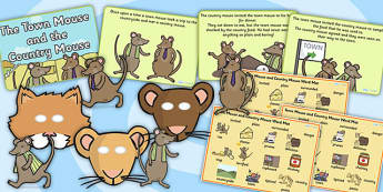 The Town Mouse And The Country Mouse Sack - story sack, story books, story book sack, stories, story telling, childrens story books, traditional tales