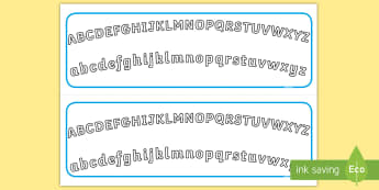 Plain Alphabet Arc Upper and Lower Case Alphabet Strips - Plain Alphabet Arc Upper and Lower Case - alphabet, arc, upper, aplhabet, aphabet, alphablet, alpaha