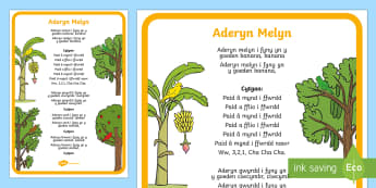 Yellow Bird Song Lyrics - Welsh Second Language Songs and Rhymes, Welsh, Songs, Yellow, bird,Welsh.