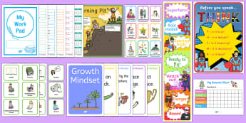 Top 10 Classroom Management Tools Resource Pack - classroom managment, organisation, visual timetable, growth mindset, learning pit, behaviour chart,
