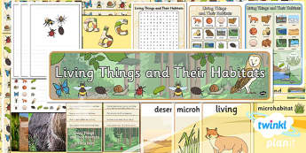 PlanIt - Science Year 2 - Living Things and Their Habitats Unit Additional Resources - science, ks1, key stage 1, planning, resources, topic, nature, animals, places, homes, display, activities