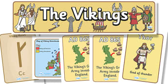 The Vikings Display Pack - the vikings, display pack, display banner, display photo, resource pack, display lettering, resources, classroom display