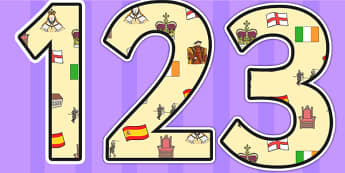 Elizabeth I Themed Display Numbers - elizabeth I, elizabeth 1st, display numbers, themed numbers, classroom numbers, numbers for display, display, numbers