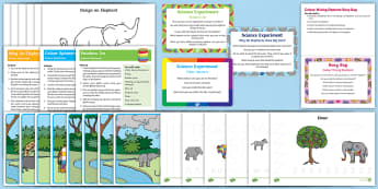 Childminder EYFS Resource Pack to Support Teaching on Elmer - Elmer, David McKee, colour, patchwork, elephant, child minder, childminding, wilbur