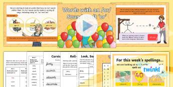 PlanIt Y5 Term 2B W1: Words with an /or/ sound spelt or Spelling Pack - Spellings Year 5, Y5, or, au, spelling, lists, weeks, weekly, SPaG, GPS, pattern, rule, sound,