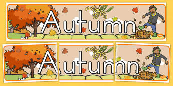 Autumn Display Banner - seasons, weather, display header, display