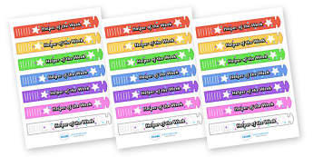 Wristband Awards (Helper of the Week) - wristband, band, award, reward, award, certificate, medal, rewards, school reward, star of the day