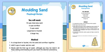 Moulding Sand Playdough Recipe