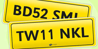 Registration Plates - registration plates, car, car plates, number plate, cars, traffic, transport, bus, plate