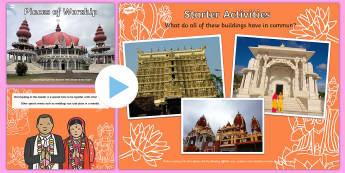 Places of Worship Hindu Mandirs KS1 PowerPoint - religion, powerpoints