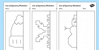 Winter Themed Symmetry Activity Sheets - winter, symmetry, worksheet