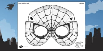 3D Spider Superhero Mask Printable - 3d, spider, superhero, mask, craft