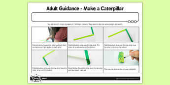 Adult Guidance Make a Caterpillar - adult guidance, make, caterpillar