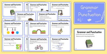Year 2 Grammar and Punctuation Challenge Cards - grammar, punctuation, challenge