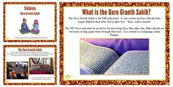 Guru Granth Sahib Teaching and Task Setting PowerPoint - Gurus